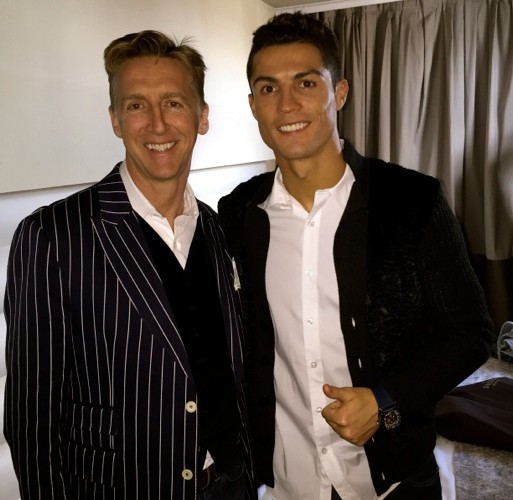 Nick Reed and Cristiano Ronaldo