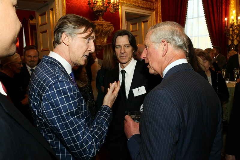 Nick Reed speaking to HRH Prince Charles at the VIP British Oscar event at St. James Palace
