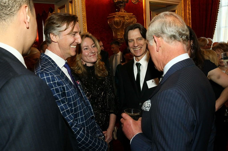 Nick Reed meets British Royalty and fellow British Oscar winners at VIP event at St James Palace